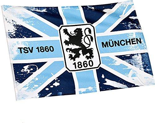 Flagge-mit-Hohlsaum-1860-Mnchen-Cross-100-x-150-cm-gratis-Aufkleber-Flaggenfritze-0