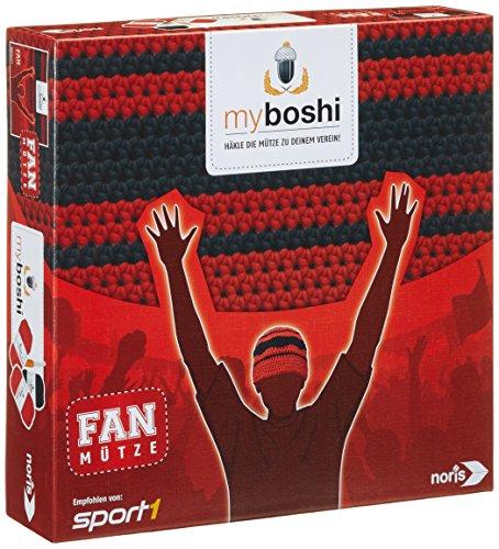 Noris-Spiele-606311349-My-Boshi-Fan-Mtze-in-den-Vereinsfarben-rot-schwarz-0