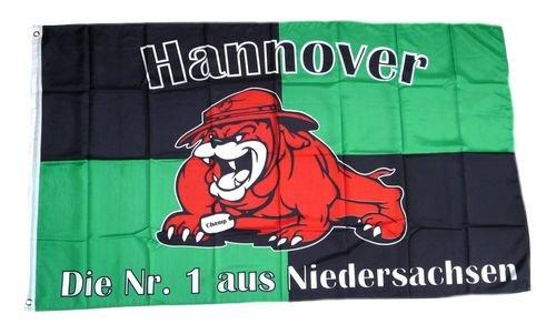 Fahne-Flagge-Hannover-Bulldogge-Fan-NEU-90-x-150-cm-0