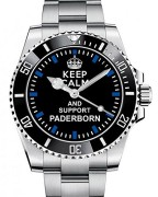 Keep-calm-and-support-PADERBORN-Armbanduhr-Uhr-1566-0