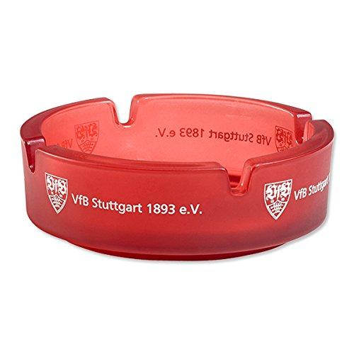 VfB-Stuttgart-Aschenbecher-rot-rund-10cm-Durchmesser-Fanartikel-0