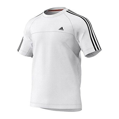 adidas-Herren-T-Shirt-Essentials-3-Stripes-Crew-0