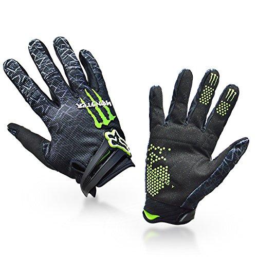 1-Paar-Ludan-Ungeheuer-Hohe-Qualitt-Schwarz-Nylon-Volle-Finger-Handschuhe-Schutz-Offroad-Enduro-Fahrradhandschuhe-M-L-XL-Gre-M-0