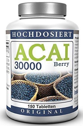 ACAI-Beere-30000-Ultra-Hochdosiert-50-Tage-Kur-Brasilianischer-Acai-Berry-Extrakt-150-Tabletten-0