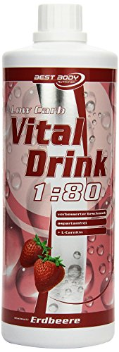 Best-Body-Nutrition-Low-Carb-Vital-Drink-Erdbeere-1000ml-Flasche-Dosi-0