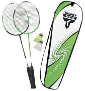 Talbot-Torro-Set-Badminton-Schlger-2-Attacker-im-Thermobag-2014-Grn-Wei-449511-0